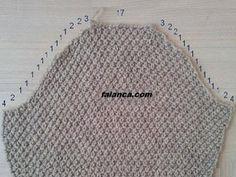 Knitting Arm Cut Numbers And Arm Joining - Ayten - - Örgüde Kol Kesim Sayıları Ve Kol Birleştirme Orgude Arm Cut Counts And Arm Combination - Diy Crafts Knitting, Diy Crafts Crochet, Easy Knitting, Sewing Crafts, Baby Knitting Patterns, Knitting Stitches, Knitting Designs, Crochet Clothes, Knit Crochet
