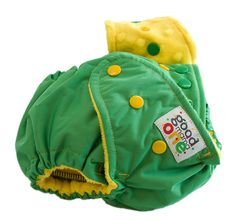 Green (Bright Yellow Dot) Double.Brite ONE by thegoodmama.com, via Flickr