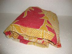 Reversible Kantha Quilt Handmade Bedding by Antiquecollections, $29.90
