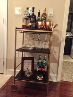 DIY IKEA bar cart                                                                                                                                                                                 More