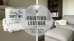 After months of threats, a couple of weeks ago I finally painted our old leather furniture with Chalk Paint™ By Annie Sloan in French Linen. It was an amazing transformation and you can read all a…