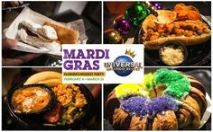 Each spring, guests can experience the many great sights and sounds of Universal's Mardi Gras celebration, from special guest musical performances to the big Mardi Gras Parade with stunning floats and beads. And you can't miss the tastes of Mardi Gras at the French Quarter Courtyard.