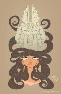 Commission - Aisha and Anubis by MeoMai.deviantart.com on @DeviantArt