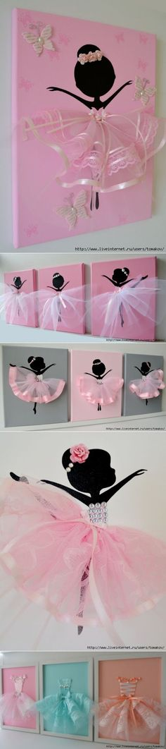 "Discover thousands of images about Make prints for the girls' new ""Big Girl"" room! Kids Crafts, Diy And Crafts, Craft Projects, Projects To Try, Arts And Crafts, Paper Crafts, Ballerina Party, Ballerina Nursery, Deco Floral"