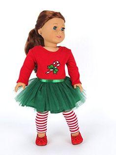 "18 Inch Doll Clothes | Candy Cane Tutu Dress | Fits 18"" A... https://www.amazon.com/dp/B00OM10MMO/ref=cm_sw_r_pi_dp_x_4a4RybBESDWWZ"