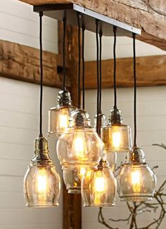 loving this 8-light pendant light fixture