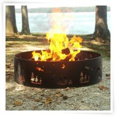 Wilderness 36 inch Portable Fire Ring with Carrying Case