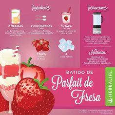 Shake de parfait de fresa