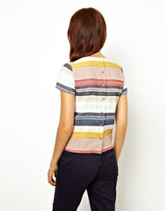 Image 2 ofSessun Shell Top in Tapestry Stripe