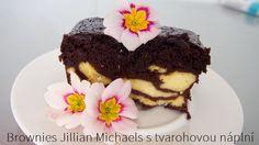 Kristina Čechová: Brownies Jillian Michaels s tvarohovou náplní Jillian Michaels, Brownies, Clean Eating, Cake, Desserts, Food, Cake Brownies, Tailgate Desserts, Eat Healthy