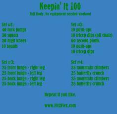 Fit2Flex*: Keepin it 100