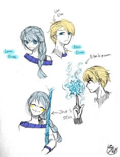 Luna Frost / Allen Frost (Jelsa Fan Kids) by Lime-Hael on deviantART