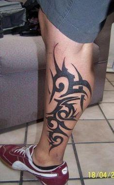 Top 15 Best Calf Tattoo Designs for Women and Men - Tatuajes - Calf Tattoos For Women, Calf Tattoo Men, Tattoos For Guys, Tribal Back Tattoos, Tribal Tattoo Designs, Tattoo Designs For Women, Polynesian Tribal Tattoos, Foot Tattoos, Body Art Tattoos