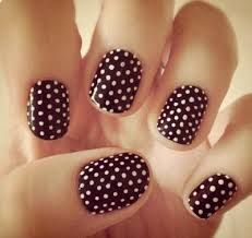 But a French: Manicures That Show Off Your New Engagement Ring A million brown polka dot nails.A million brown polka dot nails. Fancy Nails, Love Nails, Pretty Nails, My Nails, Color Nails, Style Nails, Classy Nails, Dot Nail Art, Polka Dot Nails