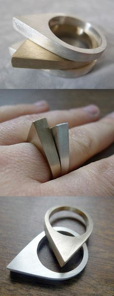 Drop Bronze Ring // I have to have this! ...beautiful design #wearabledesign #jewelrydesign
