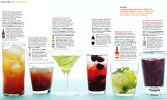 Cocktail Hour, Low Calorie Drinks  From Whole Living July / August 2011  (non-alcoholic with option for adding alcohol)