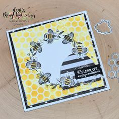 Handmade Birthday Cards, Greeting Cards Handmade, Diy Halloween, Happpy Birthday, Honey Bee Stamps, Bee Cards, Bee Theme, Stamping Up Cards, Bee Happy