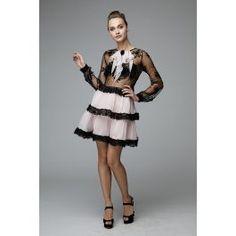 Rochie matase, aspect jucaus, broderie manuala, dantela, poate fi roz, verde mint si negru Mint, Elegant, Luxury, Dresses, Fashion, Classy, Vestidos, Moda, Fashion Styles