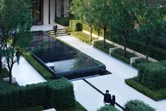 Chengdu Dowell · Yin Yangtze River by JTL Studio Landscape Architecture Drawing, Landscape Design Plans, Garden Architecture, Modern Architecture, Luxury Landscaping, Outdoor Landscaping, Commercial Landscaping, Pond Water Features, Hospital Design