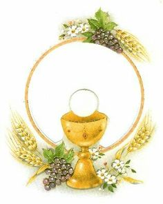 For a First Communion card First Communion Cards, First Communion Decorations, Première Communion, First Holy Communion, Blessed Sunday, Christian Images, Christian Resources, Church Banners, Catholic Art