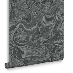 Marbled Black and Grey Wallpaper