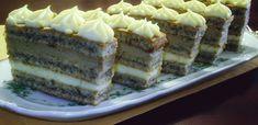 Érdekel a receptje? Kattints a képre! Hungarian Desserts, Hungarian Cake, Hungarian Recipes, Hungarian Food, Torte Cake, Cake Bars, Cookie Recipes, Dessert Recipes, Poppy Cake