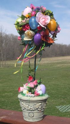Easter Topiary by tags bear, via Flickr