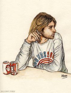 Kurt Cobain (requested) by Helen Green