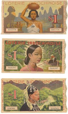 Saigoneer | Exploring Saigon and Beyond - [Photos]: Vintage Vietnamese Lottery Tickets Are Works Of Art