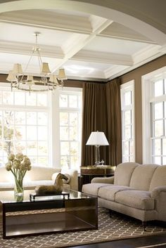 Maybe. Like the neutrals and browns. Very clean and bright looking room without being too dark and heavy.