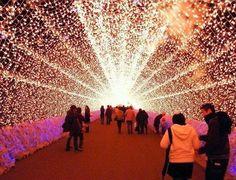 Spectacular Light Tunnels in Japan...  #amazing #beautiful #inspiration #wondersoftheworld