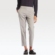 WOMEN SMART STYLE ANKLE LENGTH PANTS, GRAY