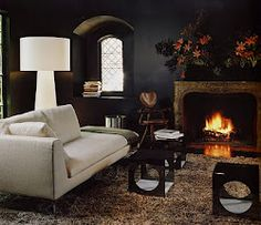 black walls and accents
