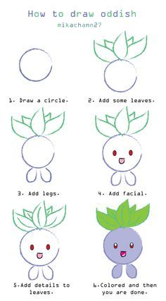 How to draw oddish