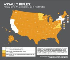 Are military-style weapons like the one used in the Aurora Theater Shooting legal in your state? Check out our new map of assault rifle laws across the country. http://smartgunlaws.org