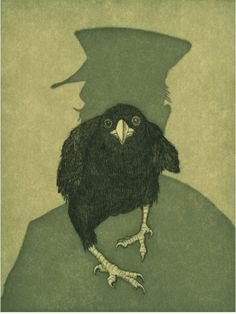 Audrey Niffeneggers illustration from her book Raven Girl, published by Jonathan Cape (Picture: Audrey Niffenegger)