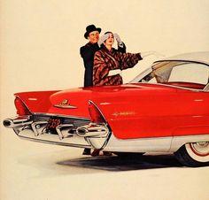 1955 Lincoln Premiere...Now THAT'S a present..! (wonder if he gave her the mink, too...?)