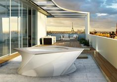 Relax with Flow Spa Jacuzzi by Daniel Libeskind * Find more at http://maisonvalentina.net/blog/relax-with-flow-spa-jacuzzi-by-daniel-libeskind/ #luxuryspa #bathroomdesignideas #bestspas