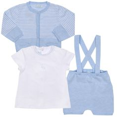 d44e95e4e Mayoral Baby SS17 Boys & White Striped 3 Piece Set - Armani Junior, D&G,  Childrens Clothing, Designer clothes, fashion, Kids Cavern, D and G, Kids  Clothing
