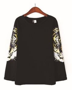 Contracted and generous long sleeve T-shirt, two sleeve steller's design, having a unique style, fabrics is comfortable and soft, as a gift to your friends pretty good also. Tiger T Shirt, Female, Long Sleeve, Pretty, Fabric, Sleeves, Tops, Women, Style