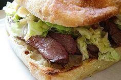 Venison Flank - Korean Sandwiches
