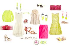 Take the neon trend out of the 80's and into 2012 by mixing with neutrals and ladylike detail.