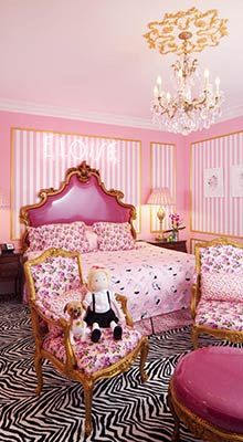 Eloise Suite at the Plaza Hotel in New York designed by Betsey Johnson. pink bed pink chair pink walls i love eloise and betsey johnson! Girls Bedroom, Bedroom Decor, Dream Bedroom, Room Girls, Pink Bedrooms, Trendy Bedroom, Bedroom Furniture, Bedroom Ideas, Plaza Hotel New York