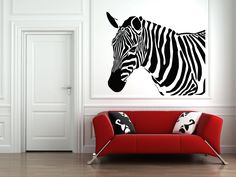 Wall Vinyl Sticker Decals Mural Room Design Pattern Art Zebra Animal Horse Strips Africa bo764 by RoomDecalsAndDesigns on Etsy