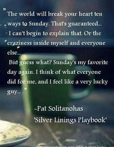 Silver Linings Playbook quote