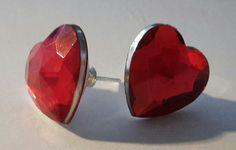 #orecchini #orecchino #faidate #handmade #perline #perlina #gioie #bottone #rosso #red #cuore