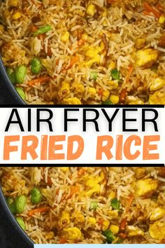 Air Fryer Quick Recipes, Air Fryer Recipes Videos, Air Fry Recipes, Air Fryer Dinner Recipes, Easy Dinner Recipes, Fun Recipes, Easy Meals, Rice Side Dishes, Vegetable Fried Rice