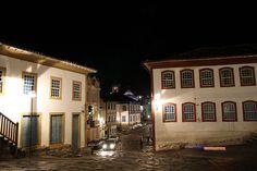 Centro histórico-noturno  - Diamantina- Foto Sérgio Mourão - Acervo SETUR MG