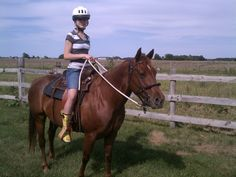 Horsewoman Emily on Sophie