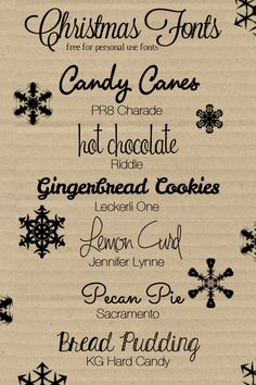 Christmas | Holiday Fonts [FREE FOR PERSONAL USE]